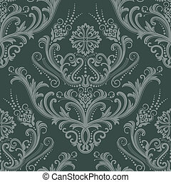 Luxury green floral wallpaper