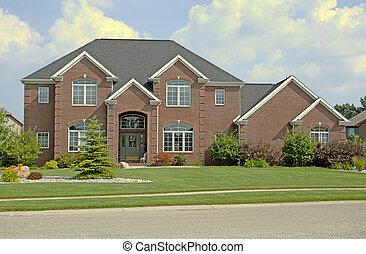 Luxury brick home. Super detail (12MP camera).