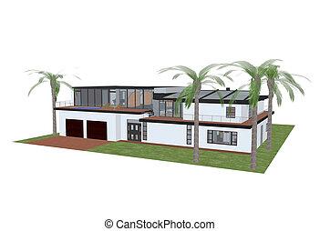 luxury home - 3d render