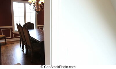 Luxury Home Dining Room - Moving dolly shot of a dining room...