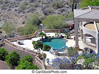 southwest living - luxury home on hillside southwest living...