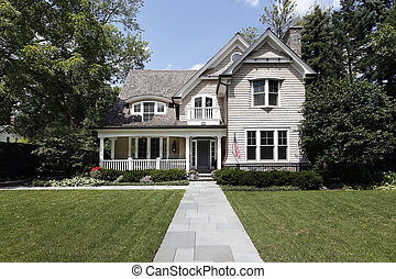 Luxury home with cedar roof