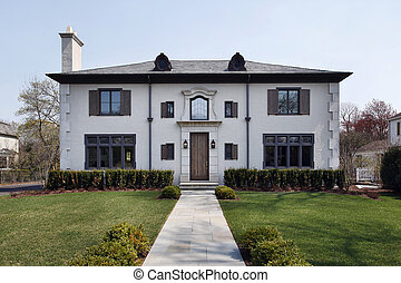 Luxury home with roof windows - Luxury home with rounded...