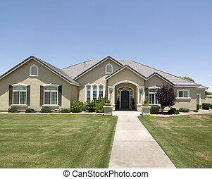 Luxury home with shutters