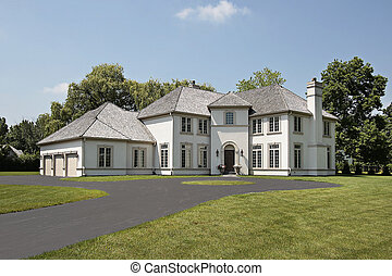 Luxury home with three car garage