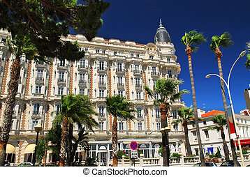 Croisette promenade in Cannes - Luxury hotel on Croisette ...