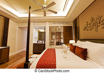 Luxury hotel room