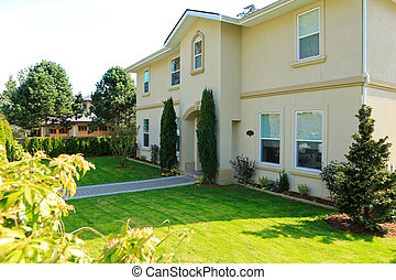 Luxury house and curb appeal - Luxury house exterior with...
