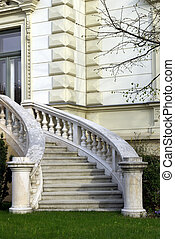 Luxury house entrance - Vertical image of a luxury house...