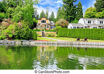Luxury house with private dock