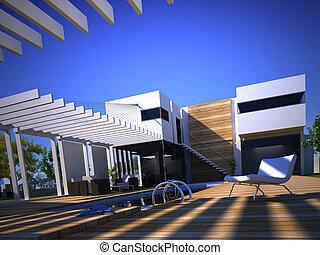 luxury house with swimmingpool