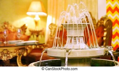 Luxury interior design supplements fountain in restaurant...