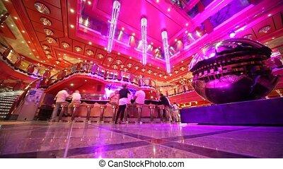 interior of hotel with refreshment bar - luxury interior of ...