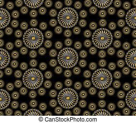 Luxury jewelry ornament background design with gold and silver seed beads