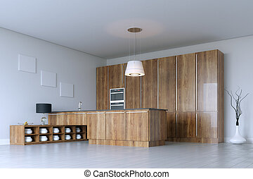Luxury Kitchen Cabinet (Wooden Furniture)