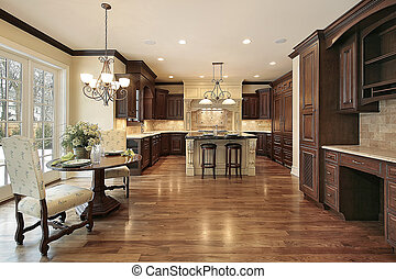 Luxury kitchen with eating area - Kitchen in new ...