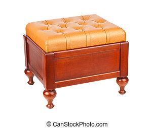 Luxury leather pouf