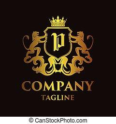 luxury Letter 'P' Logo