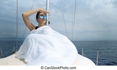 Luxury Lifestyle Sailing Boat Healthy Outdoor Living Freedom Travel Tourism