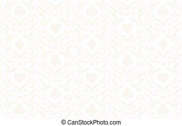 Luxury light poker background with card symbols