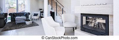 Luxury living room - Interior of luxury living room with...