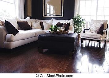 Luxury living room - Hardwood Flooring in Living Room