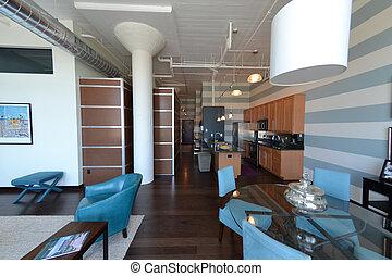 Luxury Loft Condo Interior