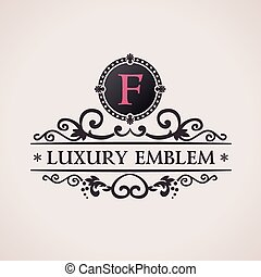 Luxury logo. Calligraphic pattern elegant decor elements. ...