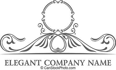 Luxury logo set. Calligraphic pattern elegant decor element