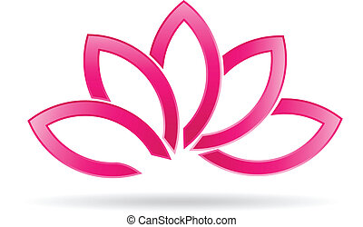 Luxury Lotus plant image logo