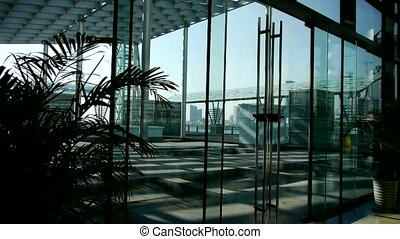 Luxury mall glass house,hall,Tower