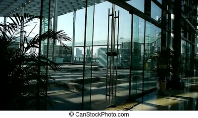 Luxury mall glass house,hall,Tower,