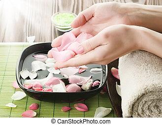 Luxury Manicure Concept. Spa