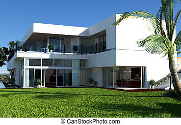 Luxury Mansion - A luxury house with beautiful view over the...