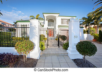 Luxury Mansion house front