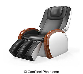 ... Luxury Massage Chair   Black And Red Leather Comfortable.