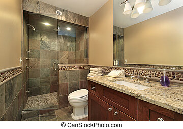 Luxury master bath in new construction home