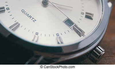 Luxury men's watch Second hand close up