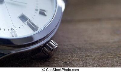 Luxury men's watch Second hand close up - Modern quartz...