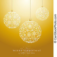 Luxury Merry Christmas baubles background EPS10 vector file.