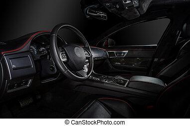 Luxury modern car interior