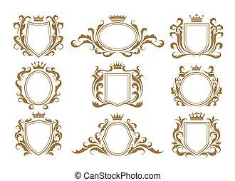 Luxury monogram shields
