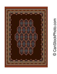 Luxury motley carpet with bright ornaments