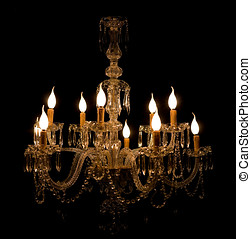Luxury Murano Glass Chandelier with Flame-shaped Bulbs