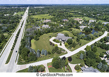 Luxury Neighborhood Aerial