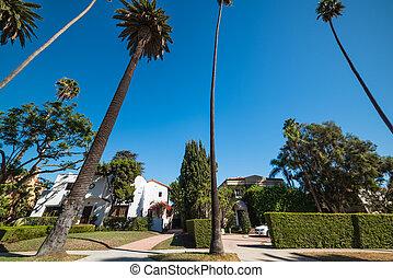 Luxury neighborhood in Los Angeles