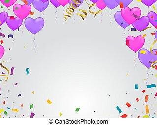 Luxury party pink, Birthday card with balloons and Christmas background
