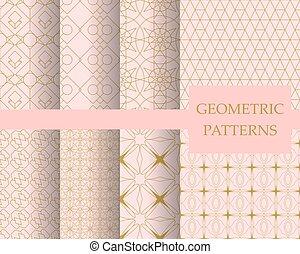 Luxury pastel geometric pattern set