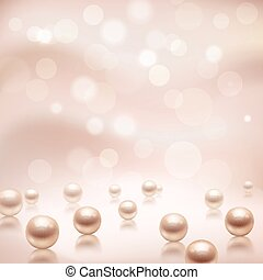 Luxury pearls background