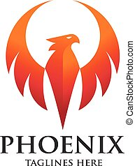 phoenix bird logo design,